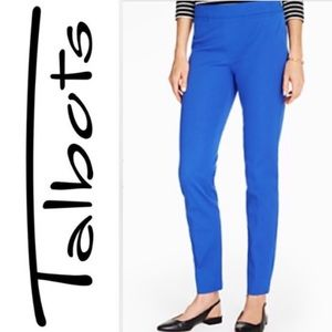 Talbots Blue Chatham Ankle Dress Pants Size 6 NWT